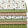 """Patchwork- und Quiltpaket """"Weihnachtswald"""", grün-color"""