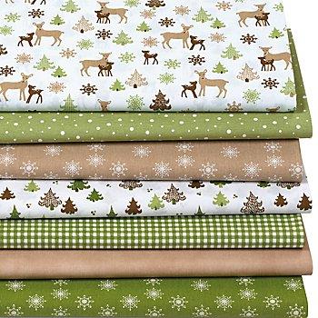 Patchwork- und Quiltpaket 'Weihnachtswald', grün-color