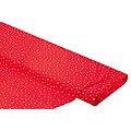 "Tissu coton ""pois"", rouge/blanc"
