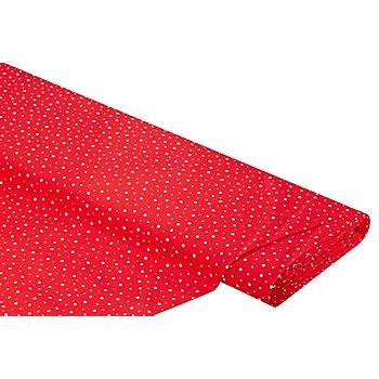 Baumwollstoff Punkte 'Mona', rot/weiss
