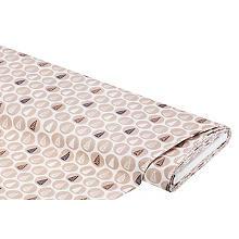 Tissu coton 'arbres - nature', blanc/marron