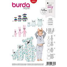 burda Schnitt 6303 'Kissen in Tierform'
