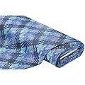 Lederimitat in 3D-Flecht-Optik, blau-color