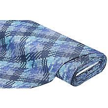 Imitation cuir 'aspect tressé 3D', bleu multicolore
