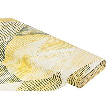 Tissu de décoration 'losanges', ocre/gris