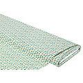"Tissu coton ""ramage de feuilles"", vert/ambre"