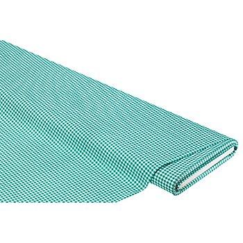 Baumwollstoff Vichykaro 'Mona', smaragdgrün/weiß, 3 x 3 mm
