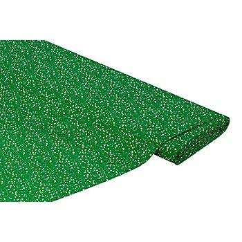 Baumwollstoff Sterne/Punkte 'Mona', grün-color