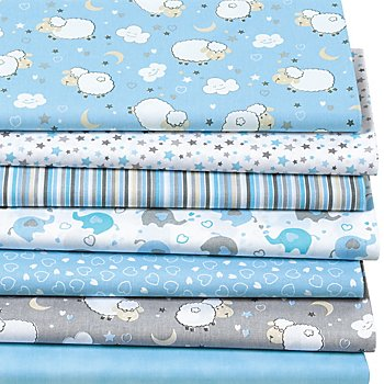 Patchwork- und Quiltpaket 'Baby Boy', blau-color