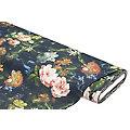 """Tissu de décoration """"fleurs au style vintage"""", noir multicolore"""