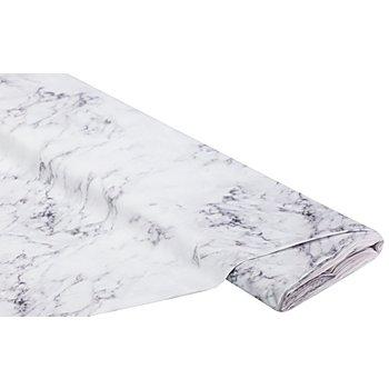Baumwollstoff-Digitaldruck 'Marmor Ria', weiss/grau