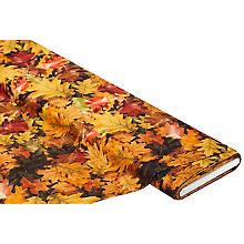 Tissu coton à impression numérique 'feuillage d'automne', marron multicolore