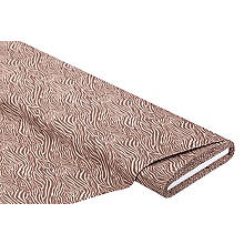 Baumwollstoff Zebra 'Mona', braun-color