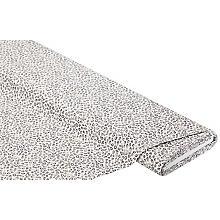 Baumwollstoff Leo 'Mona', weiß/grau/braun