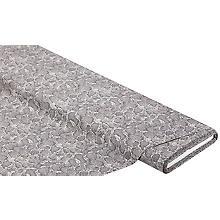 Baumwollstoff Schlange 'Mona', grau-color