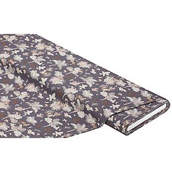 Tissu coton 'animaux', gris foncé multicolore