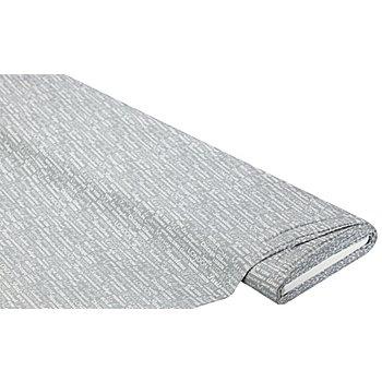 Baumwollstoff Schriften/Städte 'Mona', grau/weiß