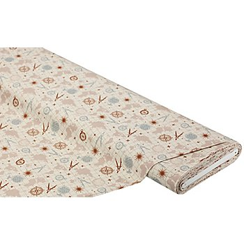 Baumwollstoff Vintage World 'Mona', beige-color