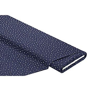 Tissu coton 'pois', bleu marine/blanc