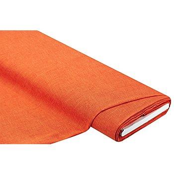Vorhangstoff in Leinen-Optik, mandarin
