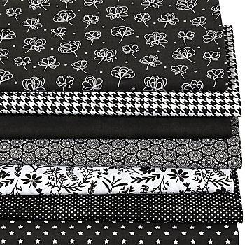 Patchwork- und Quiltpaket 'Black and White' , schwarz/weiß