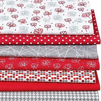 Patchwork- und Quiltpacket 'Rot/Weiß'