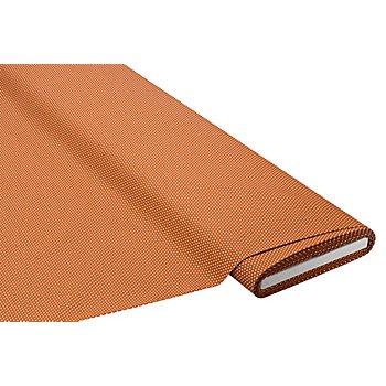Tissu coton à pois, terre cuite/blanc
