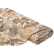 Dekostoff Brokat 'Ranke', braun-color