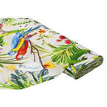 Dekostoff 'Papagei', natur-color