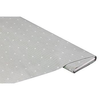 Tissu coton 'étoiles', gris clair