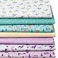 "Lot de 7 coupons de tissu patchwork ""Noël"", tons pastel"