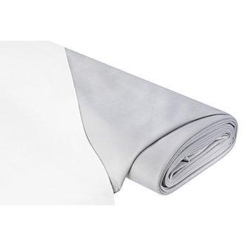 Tissu flanelle double-face, gris/blanc cassé