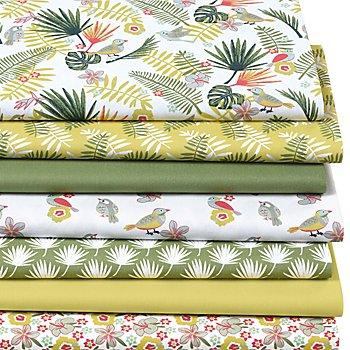 Patchwork- und Quiltpaket 'Tropical', grün-color
