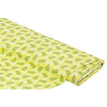 Tissu coton 'feuilles de palmier', vert/vert foncé