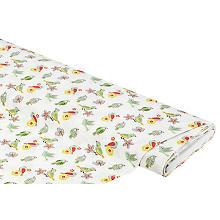 Tissu coton 'motif tropical', blanc multicolore