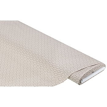Tissu coton 'petites fleurs', taupe/gris