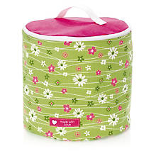 Kit couture 'panier de rangement avec couvercle', vert/rose vif