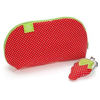 Näh-Set 'Erdbeertäschchen' für 2 verschiedene Taschen