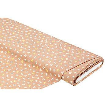 Tissu coton 'pattes', marron multicolore