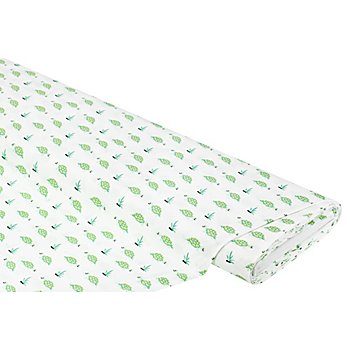 Baumwollstoff Schildkröten 'Mona', weiß/grün