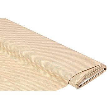 Tissu coton 'pois', lin/blanc, 2 mm Ø