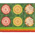 """Coupon de tissu pour coussins """"mandala"""", rouge/vert"""