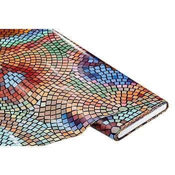Abwaschbare Tischwäsche - Wachstuch 'Mosaik', bunt
