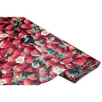 Abwaschbare Tischwäsche - Wachstuch 'Erdbeeren', rot-color