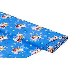 Tissu coton 'Frozen - Anna & Elsa', bleu multicolore