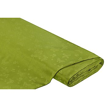 Tissu jacquard 'papillon', vert