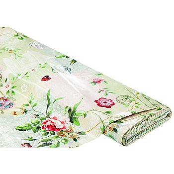 Linge de table épongeable - toile cirée 'vintage', vert multicolore