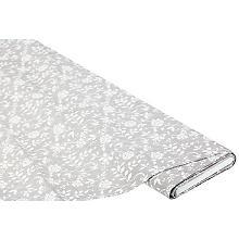 Abwaschbare Tischwäsche – Wachstuch 'Blumen', grau/weiss