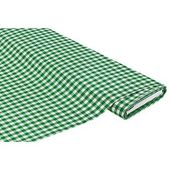 Tissu coton à carreaux vichy, vert/blanc, 1 x 1 cm