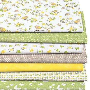 Patchwork- und Quiltpaket 'Romantic Spring', grün